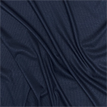 Navy Blue Solid Jersey Spandex Blend Ribbed Knit Fabric