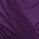Plum Purple Solid Jersey Spandex Blend Ribbed Knit Fabric