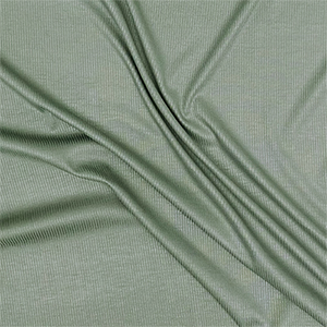Half Yard Sage Green Solid Jersey Spandex Blend Ribbed Knit Fabric
