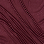 Burgundy Wine Solid Jersey Spandex Blend Ribbed Knit Fabric