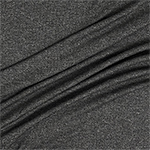 Heather Charcoal Gray Solid Jersey Spandex Blend Ribbed Knit Fabric