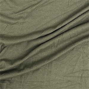 Light Olive Solid Jersey Spandex Blend Ribbed Knit Fabric