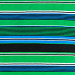 Kelly Blue Black Retro Stripe Jersey Spandex Blend Ribbed Knit Fabric