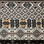 Black Gold Navajo Ethnic Stripes Cotton Spandex Blend Knit Fabric