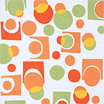 Orange Green Geo Modal Cotton Spandex Blend Knit Fabric
