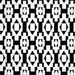 White Black Diamond Squares Cotton Spandex Blend Knit Fabric
