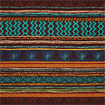 Earthy Hand Drawn Ethnic Cotton Spandex Blend Knit Fabric