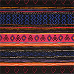 Sunset Hand Drawn Ethnic Cotton Spandex Blend Knit Fabric