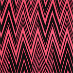 Black Linear Chevron on Hot Pink Cotton Spandex Blend Knit Fabric