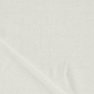White Solid Cotton French Terry Knit Fabric