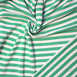 Kelly Green Natural White Stripe French Terry Knit Fabric