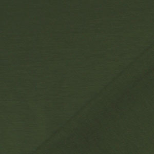 Olive Green Solid French Terry Blend Knit Fabric