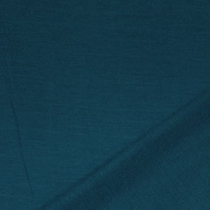 Teal Blue Solid French Terry Blend Knit Fabric