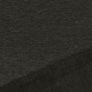 Charcoal Gray Heather Solid French Terry Blend Knit Fabric