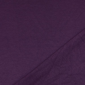 Half Yard Eggplant Purple Solid French Terry Blend Knit Fabric