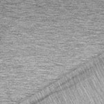 Gray Heather Solid French Terry Blend Knit Fabric
