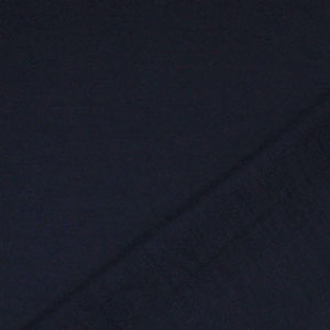 Blue Navy Solid French Terry Blend Knit Fabric