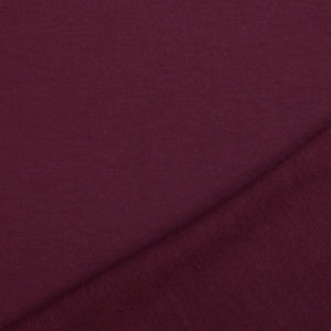 Wine Burgundy Solid French Terry Blend Knit Fabric
