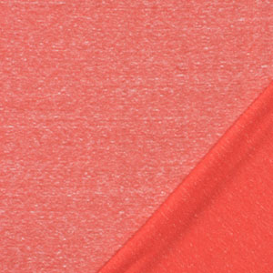 Coral Orange Solid Tri Blend French Terry Knit Fabric