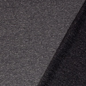 Charcoal Black Solid Tri Blend French Terry Knit Fabric