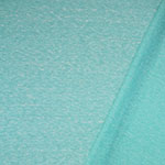 Aqua Blue Solid Tri Blend French Terry Knit Fabric