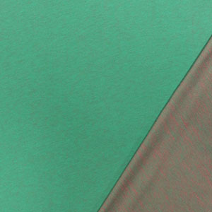 Green Pink Two Tone Solid French Terry Knit Fabric