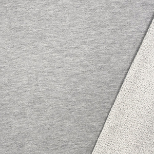 Light Heather Gray Solid French Terry Knit Fabric