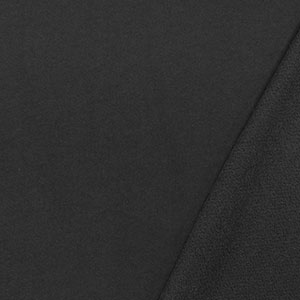 Half Yard Dark Charcoal Gray Solid French Terry Knit Fabric
