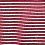 Red Ivory Small Breton Stripe French Terry Blend Knit Fabric
