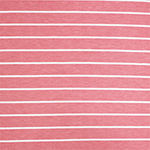Rose Pink Breton Stripe French Terry Spandex Blend Knit Fabric