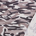 Muted Mauve Charcoal Camo Inverted French Terry Blend Knit Fabric