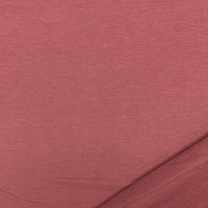 Dusty Marsala Solid French Terry Blend Knit Fabric