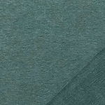Heather Pine Green Solid French Terry Knit Fabric