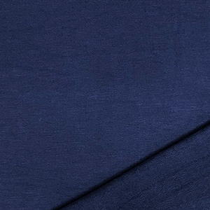 Super Navy Solid French Terry Blend Knit Fabric