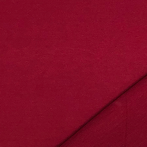 Deep Red Solid French Terry Blend Knit Fabric