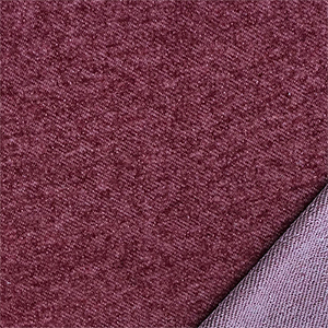 Denim Burgundy Solid French Terry Blend Knit Fabric