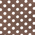 White Dots on Heather Cocoa French Terry Knit Fabric