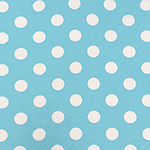 White Dots on Heather Turquoise French Terry Knit Fabric