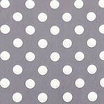 White Dots on Gray French Terry Knit Fabric