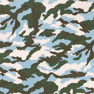 Heather Green Black Blue Gray Camo French Terry Knit Fabric