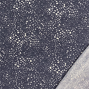 Denim Blue Pebbled French Terry Blend Knit Fabric