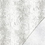 Washed Gray Snakeskin on White Modal French Terry Blend Knit Fabric