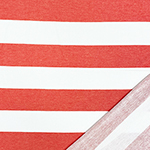 Chalk Red White Big Stripe French Terry Blend Knit Fabric