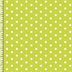 Pure Vintage Chartreuse Dot Cotton Spandex Knit Fabric