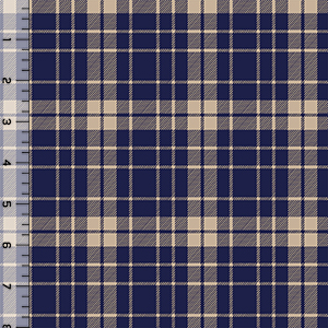 Half Yard Pure Vintage School Plaid Cotton Spandex Knit Fabric