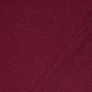 Wine Red Solid Wool Blend Hacci Sweater Knit Fabric