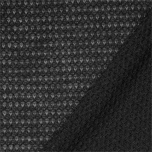 Black Heart Crochet Stitch Hacci Sweater Knit Fabric