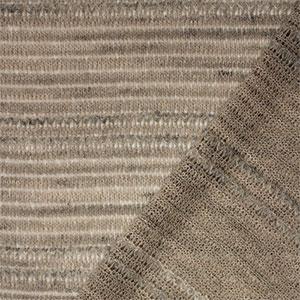 Taupe Gray Lace Crochet Stitch Hacci Sweater Knit Fabric Girl
