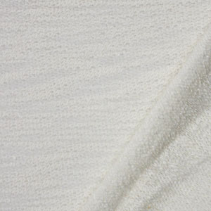 Cream Slub Loop Stitch Hacci Sweater Knit Fabric