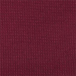 Burgundy Red Waffle Solid Hacci Sweater Knit Fabric